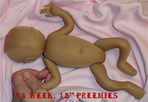 Preemie Doll Pattern Cloth Doll Pattern Sewing Dollmaking 18: Preemies