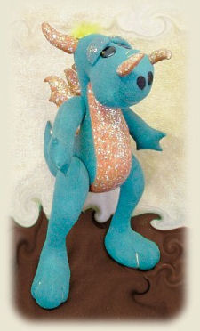 "Darrell the Dragon Cloth Doll Pattern 18"" Tall"