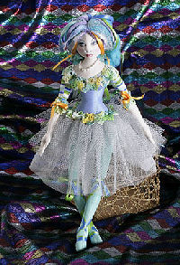 "Enchanting 15"" doll with simple sculpting, butoon and sewn joints."