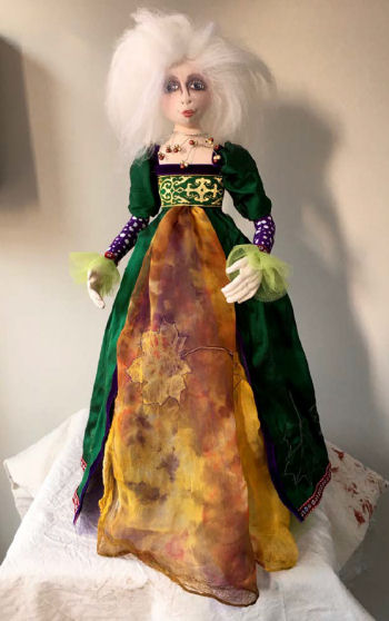 "Lady of Avalon is a stump doll pattern. She is 18"" tall."