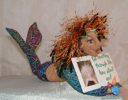 Ruby of the Sea - Cloth Doll Mermaid Pattern by Judi Wellnitz