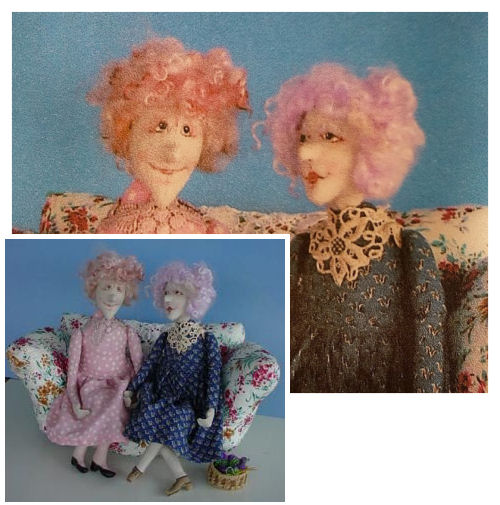 Best Friends - Fabric sewing doll making pattern by barb keeling