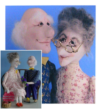 Tille & Tom - The Two Of Us - Cloth Doll Sewing Pattern by Barb and Doug Keeling.