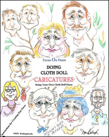 "Creating Cloth Doll Faces ""Caricatures"" Workbook"