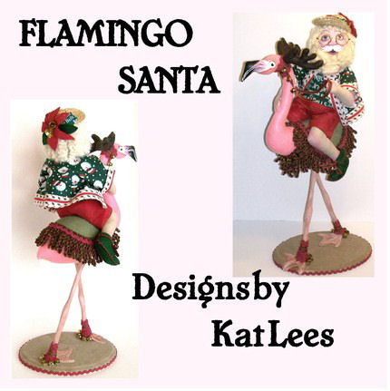 Flamingo Santa Cloth Doll Making CD