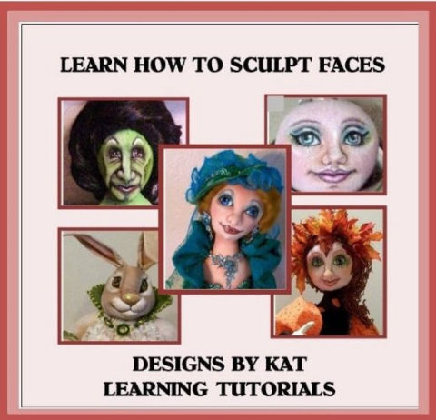 Sculpting Cloth Doll  Faces Tutorial CD