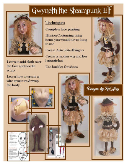 Doll Making - Gwynth – The Steampunk Elf - CD