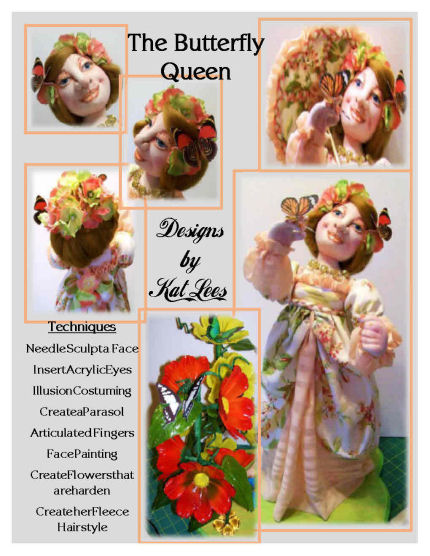 Cloth Doll making The Butterfly Queen - CD