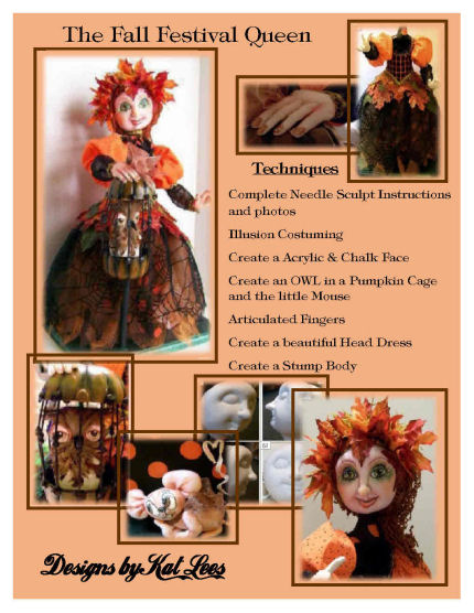 The Fall Restival Queen - Cloth Doll Making CD