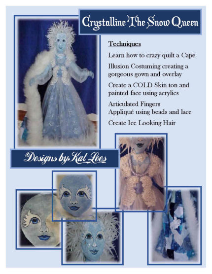Crystalline The Snow Queen – CD Instructinos for Making a Cloth Doll
