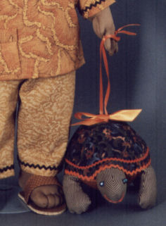 tebo the turtle cloth animal sewing pattern - doll making pattern and instructions