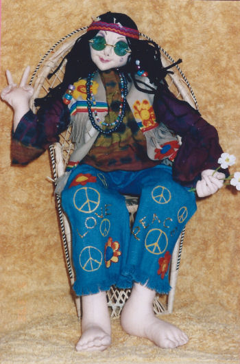 A blast from the past! A real hippie! Cloth Doll Pattern