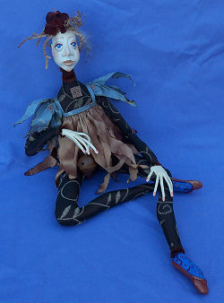 "27"" cloth art doll with paperclay head, hands and feet.  Pattern and Instructions for Doll Making Available"