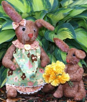 For My Mommy - Cloth Bunny Doll Pattern.  Soft Animal
