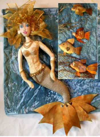 Steampunk Mermaid and Fish Cloth Doll Art Pattern