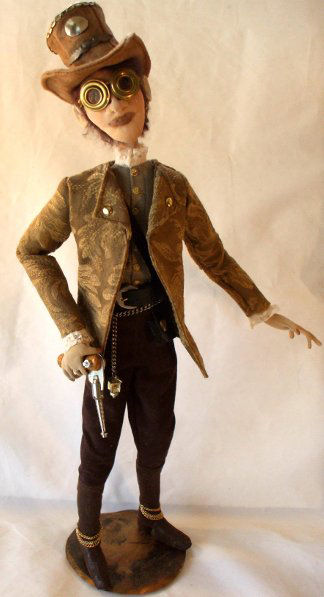 Pistol Pete Steampunk Cloth Doll Art Sewing Fabric Pattern