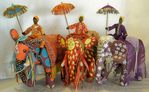 Painted Pachyderms Cloth Doll Patterns