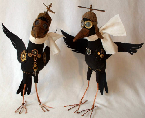 Steampunk Crows CLoth Doll Art Sewing Pattern