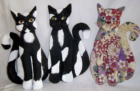 "10"" Kitty Kitty Cloth Doll Pattern"