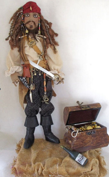 Pirate Jack Cloth Doll Pattern by Laura Lunsford