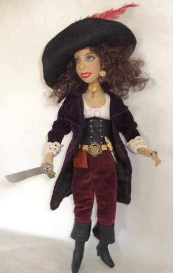 "16"" Lady Pirate Cloth Doll Pattern"