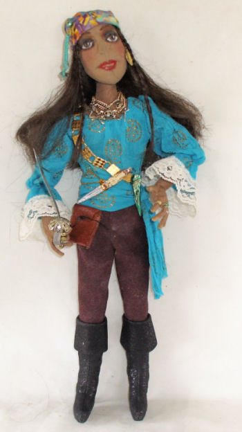 "16"" Lady Pirate Cloth Doll Pattern - Sadie of The Sea"