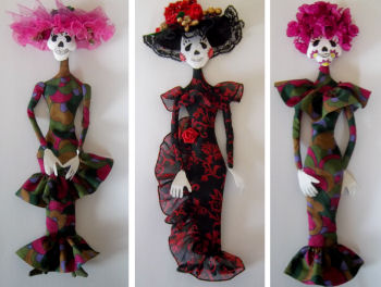 "10"" Wall Doll Cloth Doll Pattern - Day of the Dead"