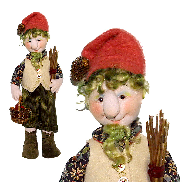 woodland elf dolls - Cloth Doll Making Sewing Pattern by Leslie Molen