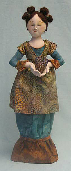 Madonna Cloth Doll Making Sewing Pattern by Leslie Molen