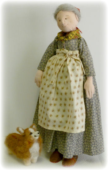 Tasha Tudor Cloth Doll Making Sewing Pattern by Leslie Molen