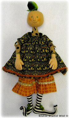 Penelope Pumpkin Girl Cloth Doll Making Sewing Pattern by Leslie Molen