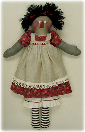 Raggedy Ann Doll Cloth Doll Making Sewing Pattern by Leslie Molen