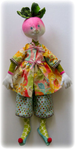 Ruby Radish  Cloth Doll Making Sewing Pattern by Leslie Molen