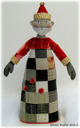 Santa Cloth Doll - Folk Pattern
