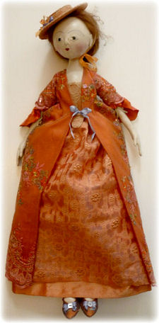 Queen Anne Style Jointed Coloth Doll Pattern