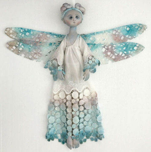 "24"" Lulu Blu Dragonfly cloth doll pattern"