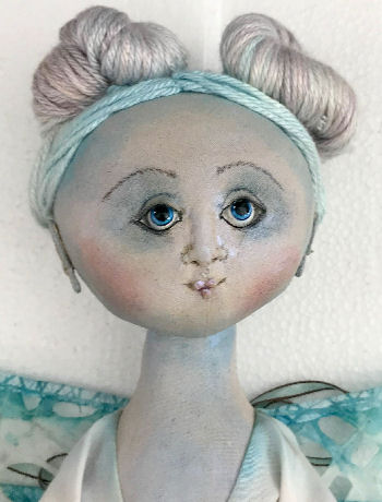 "24"" Lulu Blu Dragonfly cloth art doll CD and Pattern"