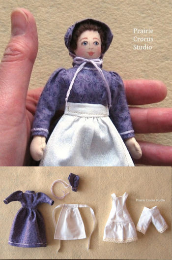 "Woman Doll (5.5"") Prairie Pioneer Clothing Pattern."