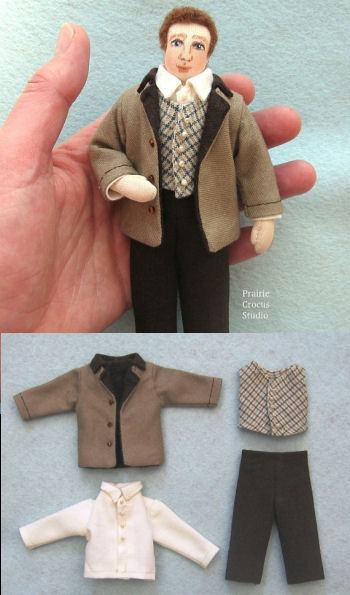 Man Doll Prairie Pioneer Clothing Pattern.