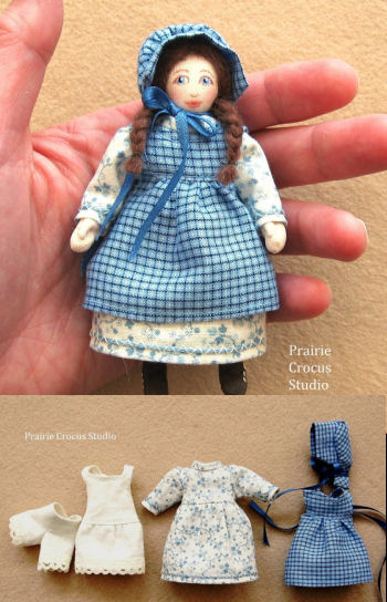Girl Doll Prairie Pioneer Clothing Pattern.
