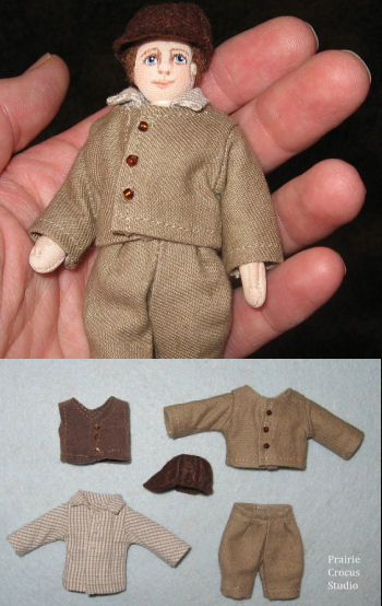 Boy Doll Prairie Pioneer Clothing Pattern.