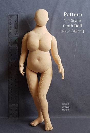 "Plus Size Woman Fashion Doll -16.5"" Mannequin Sewing Pattern"