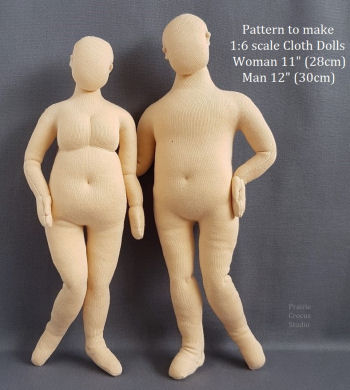 "Mini Mannequin 12"" (30cm) and 11"" Patterns Cloth Doll Pattern"