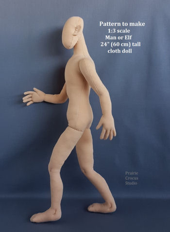 NEW - Elf Man 1:3 Scale Cloth Mannequin 24""