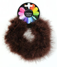 Brown Marabou Feather Craft Boa