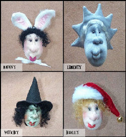 "Not only will you have a ball making these 4 fabulous 3"" pindolls but you'll improve your needlesculpting skills as well. A terrific project for beginners"