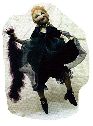 "Who ever thought a 10"" needle scupted witch could be so utterly charming! - Cloth Doll Pattern."