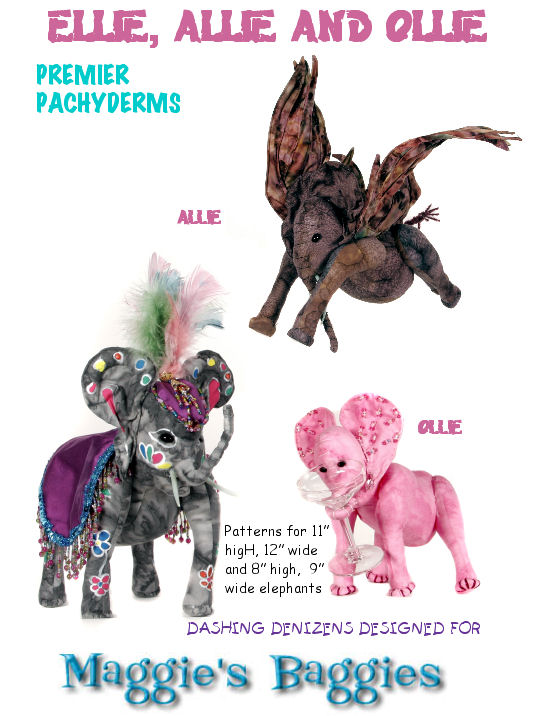 Elephants have never been more fun to make than the three fantastic - Cloth Animal Sewing Pattern. Soft Dolls