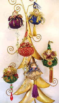 "You will have an absolute ball using up your favorite scraps and embellishments on these fantastic 5"" ornaments in two different styles and endless possibilities!"
