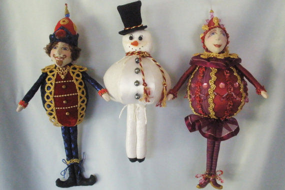 "Whip up a batch of these delightful 10-13.5"" ornaments and you'll have a supply of perfect gifts for the holidays!"